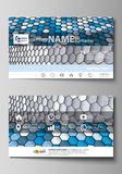 Business card templates. Easy editable layout, vector template.  Stock Photo