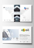 Business card templates. Easy editable layouts, flat style template, vector illustration. High tech design, connecting. System. Science and technology concept Stock Images