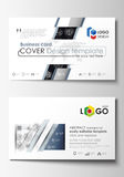 Business card templates. Easy editable layouts, flat style template, vector illustration. High tech design, connecting. System. Science and technology concept stock illustration