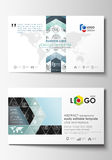 Business card templates. Easy editable layouts, flat style template, vector illustration. High tech design, connecting. System. Science and technology concept Royalty Free Stock Photography
