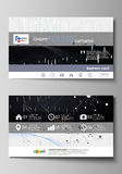 Business card templates. Easy editable vector layout. Abstract design infographic background in minimalist style made Royalty Free Stock Photos
