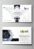 Business card templates. Easy editable vector layout. Abstract design infographic background in minimalist style made Royalty Free Stock Photo