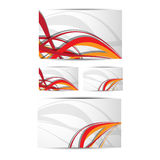 Business card templates. Illustration of business card templates design Stock Photos