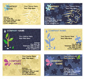 Business card templates set vector illustration
