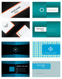 Business Card Templates Set. 4 Set Vector Business Card Templates pack. Best of use your business identity, personal use Stock Photo