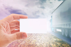 Business card for Transportation Company Royalty Free Stock Image