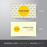 Business card triangle abstract background design layout templat. E, with bleed, vector eps10 Stock Images