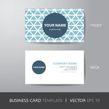 Business card triangle abstract background design layout templat. E, with bleed, vector eps10 Stock Photos