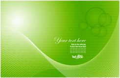 Business card vector. Illustration with tints of green vector illustration
