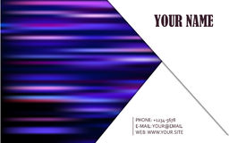 Business card vector background Royalty Free Stock Photography