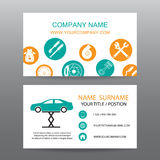 Business card vector background,car salesman Stock Photography