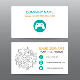 Business card vector background,gamer. 01 Vector Illustration