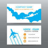 Business card vector background, guide tour companies. 01 Royalty Free Stock Images