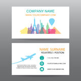 Business card vector background, guide tour companies Stock Images