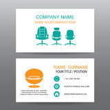 Business card vector background,Home Office Stock Images