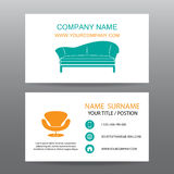 Business card vector background,Home Office Stock Photos
