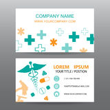 Business card vector background, Hospital personnel Stock Images