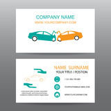 Business card vector background,Insurance emergency Stock Photo