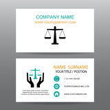Business card vector background,Insurance law and Lawyer Stock Images