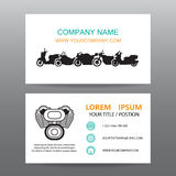 Business card vector background,Motorcycle  showrooms Stock Image