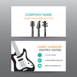 Business card vector background,Musician Royalty Free Stock Image