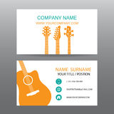 Business card vector background,Musician. 02 Stock Image