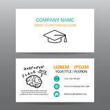 Business card vector background,Professors or teachers Stock Image