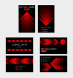 Business card vector background. Several variants vector Stock Images