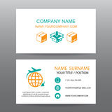 Business card vector background,Shipping, and Logistics Stock Image
