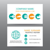 Business card vector background,tour companies Royalty Free Stock Photography