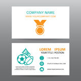 Business card vector background, trainer gym Stock Image