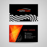Business card vector design for transportation car racing sport and Car wash or auto car or engineer car Stock Photo