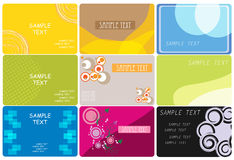 Business card. Vector illustration of different business cards Stock Photo