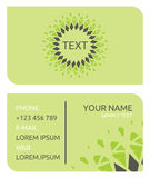 Business card. Vector illustration of the samples of business cards Royalty Free Stock Photos