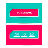 Business Card Vector Retro Simple Layout Royalty Free Stock Images