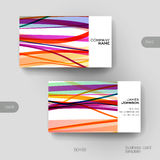 Business card vector template with abstract background Stock Image
