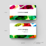 Business card vector template with abstract background Royalty Free Stock Photography