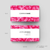 Business card vector template with abstract background Stock Images