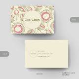 Business card vector template with floral abstract background Royalty Free Stock Images