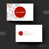 Business card vector template with floral abstract background Stock Images