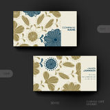 Business card vector template with floral Royalty Free Stock Images