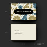 Business card vector template with floral Stock Images