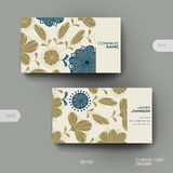 Business card vector template with floral background Royalty Free Stock Images