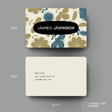 Business card vector template with floral background Royalty Free Stock Photography