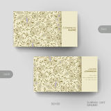 Business card vector template with floral ornament Stock Photography