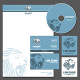 Business card vector template with lion logo Stock Photo