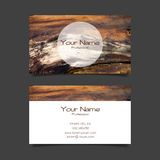 Business card vector template Stock Image
