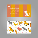Business card for vet Stock Images