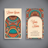 Business card. Vintage decorative elements Royalty Free Stock Images