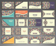 Business card. Vintage decorative elements Stock Photos
